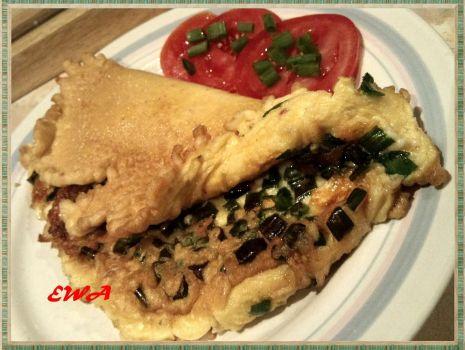 Przepis: Omlet z mozzarellą