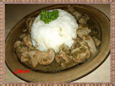 Przepis: Żołądki drobiowe z ryżem