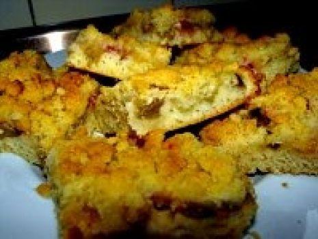 Przepis: Ciasto twarogowe z Rabarbarem.....)))