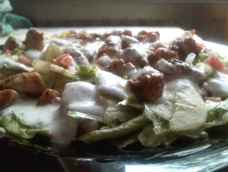 """Przepis: Dietetyczna sałatka """"kebab"""""""