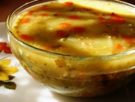 Przepis: Wiosenna zupka z kasza