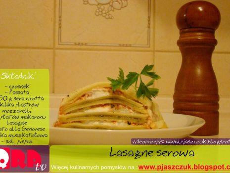 Przepis: Lasagne serowa