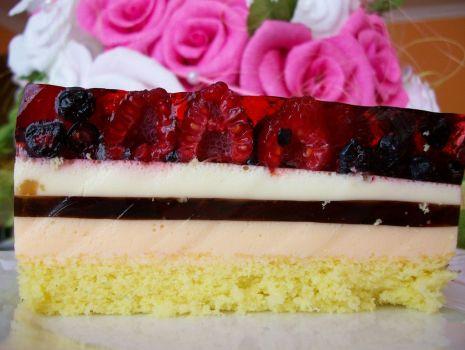 Przepis: ciasto z owocami leśnymi