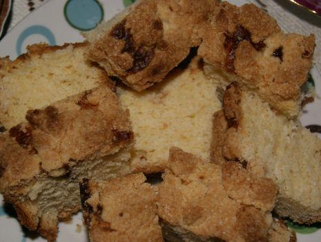 Przepis: Ciasto drozdzowe z posypka
