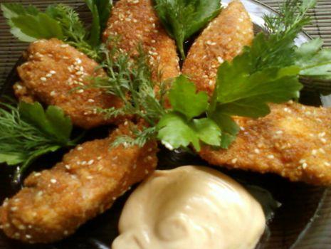 Przepis: Paluszki z kurczaka z sosem curry