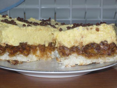 Przepis: ciasto kokosowo-orzechowe z pyszną masą