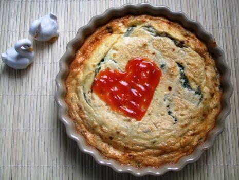 Przepis: Frittata serowa ze szpinakiem