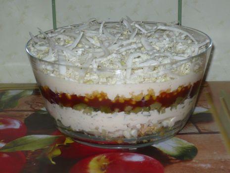 Przepis: salatka z gyrosem
