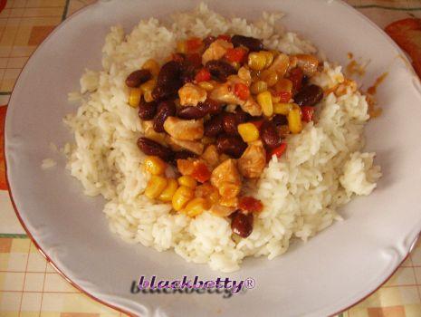 Przepis: Gulasz meksykański z ryżem