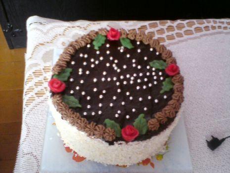 Przepis: Tort waniliowo-kakaowy