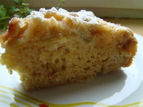 Przepis: Ciasto rabarbarowe z imbirem