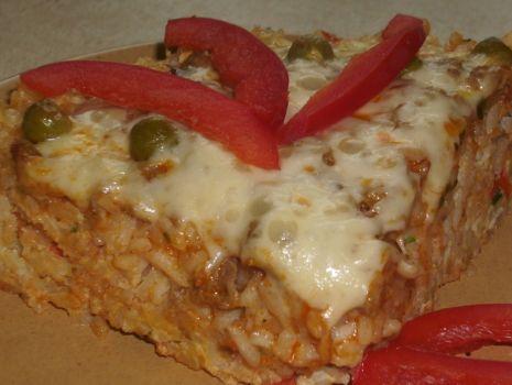 Przepis: Zapiekanka z ryżu i mięsa mielonego