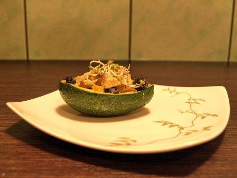 Przepis: Grillowana sałatka z awokado