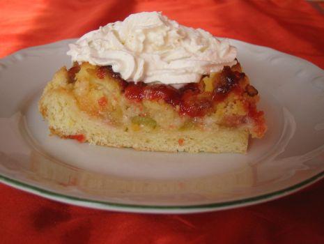 Przepis: Ciasto drozdzowe z rabarbarem