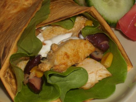 Przepis: Tortilla z kurczakiem