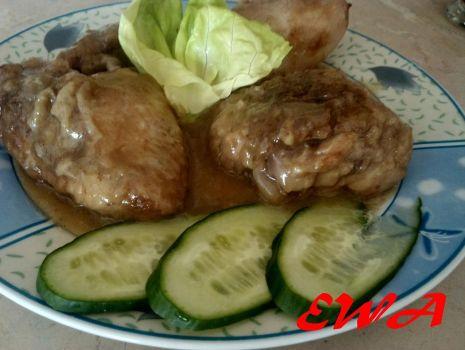 Przepis: Kurczak w sosie sojowo-grzybowym