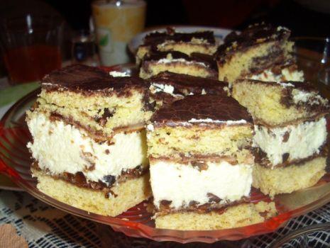 Przepis: ciasto z orzechami i kremem