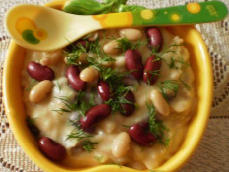 Przepis: Puree ziemniaczano-fasolowe :