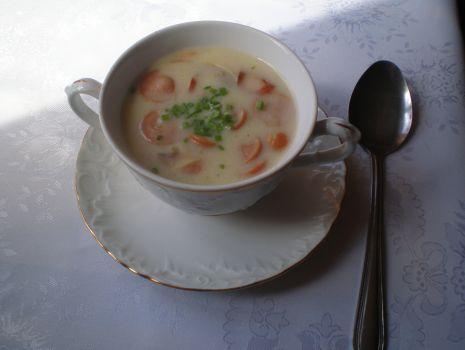 Przepis: Zupa serowa z pieczarkami