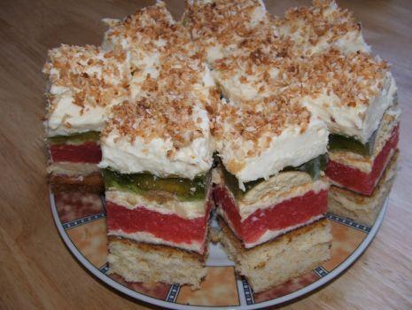 Przepis: Kolorowe ciasto z posypką
