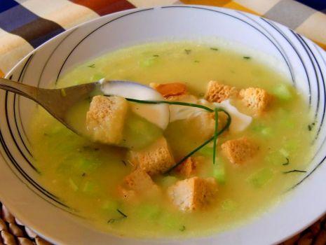 Przepis: Zupa krem ze swiezego ogorka