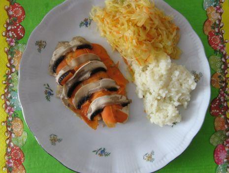 Przepis: Ryba pieczona z warzywami