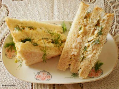 Przepis: Sandwicze  z jajkiem wg Buni  :