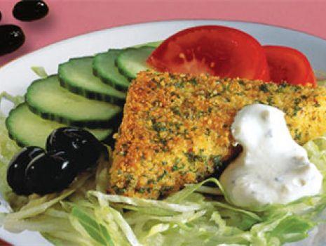 Przepis: Kotleciki z sera śródziemnomorskiego w ziołowej panierce