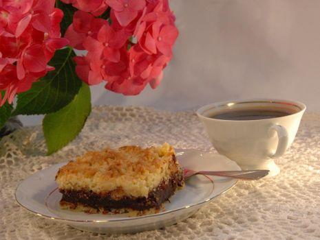 Przepis: Kruche ciasto z powidłami śliwkowo-czekoladowymi