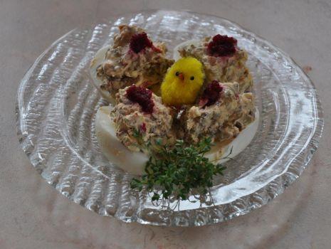 Przepis: Jaja faszerowane