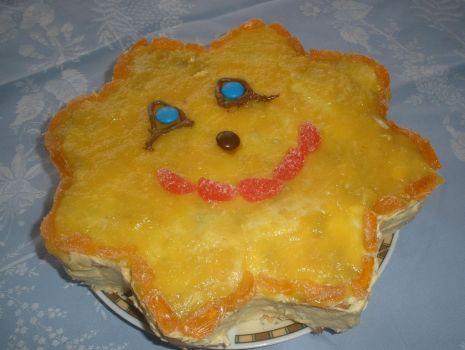 Przepis: Tort słoneczko