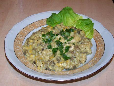 Przepis: risotto z kurczakiem i pieczarkami