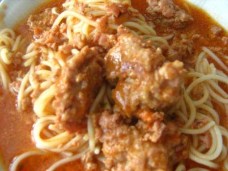 Przepis: Moje skromne spaghetti.