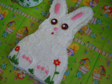 Przepis: Wielkanocny puszysty króliczek.
