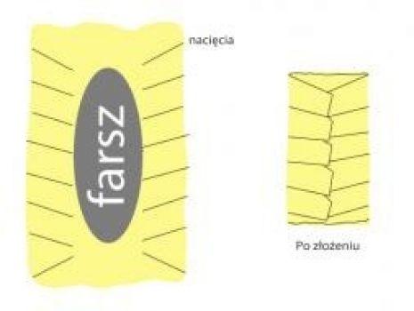 Przepis: Sztrucel szynkowy w ciescie francuskim