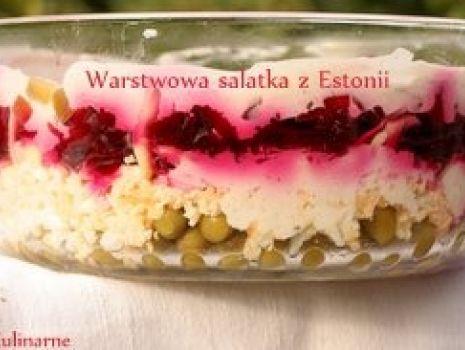 Przepis: Estońska sałatka warstwowa