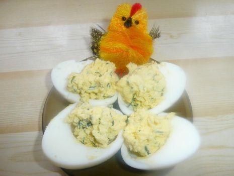 Przepis: Jaja na zielono