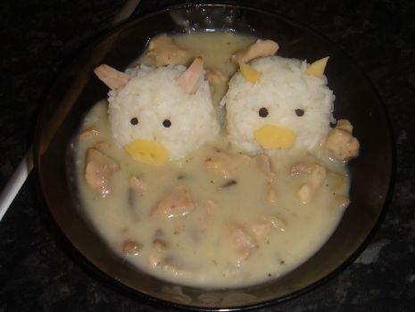 Przepis: gulasz  z  ryżem a'la świnki
