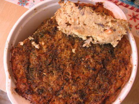 Przepis: Zapiekanka z selera i pieczarek