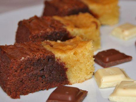 Przepis: Brownie+blondie