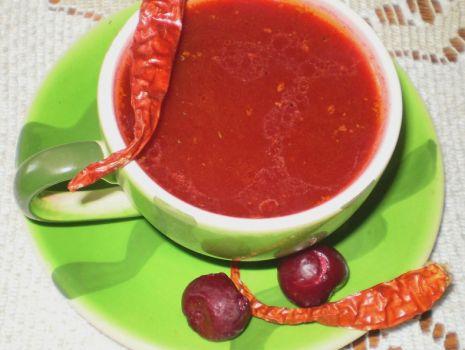 Przepis: Barszcz czerwony o smaku wiśniowym :