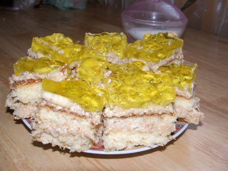 Przepis: Ciasto z masą jabłkowo-bananową