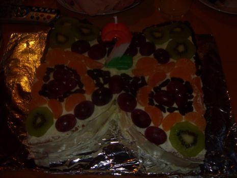 Przepis: tort owocowy motylek