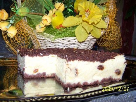 Przepis: Wielkanocny sernik kakaowy