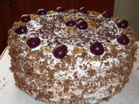 Przepis: Tort z wiśniami