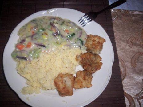 Przepis: Ryba w potrawce z kaszką kuskus
