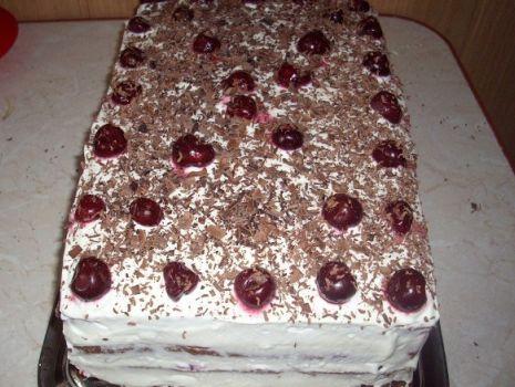 Przepis: Tort wiśniowy II