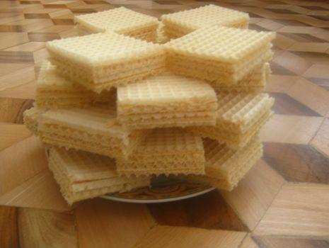 Przepis: wafle z masą krówkową