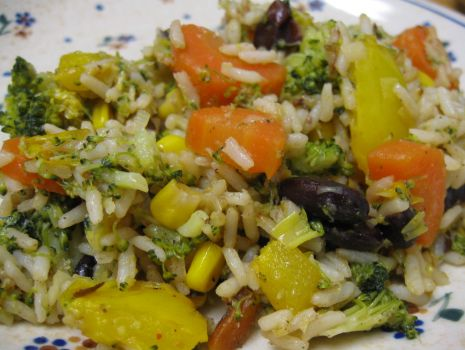 Przepis: ryż z warzywami