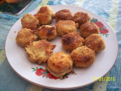 Przepis: Faszerowane pieczarki w bułce tartej na ostro